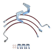 2008-2010 F250 & F350 Crown Performance Stainless Steel Brake Line Kit (0-3