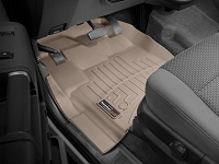 2013-2016 F250 & F350 Regular Cab WeatherTech Driver & Passenger FloorLiners - Tan (Fits Models w/out 4WD Floor Shifters and w/ Carpet Flooring)