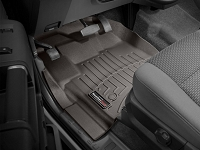 2013-2016 F250 & F350 Regular Cab WeatherTech Driver & Passenger FloorLiners - Cocoa (Fits Models w/out 4WD Floor Shifters and w/ Carpet Flooring)
