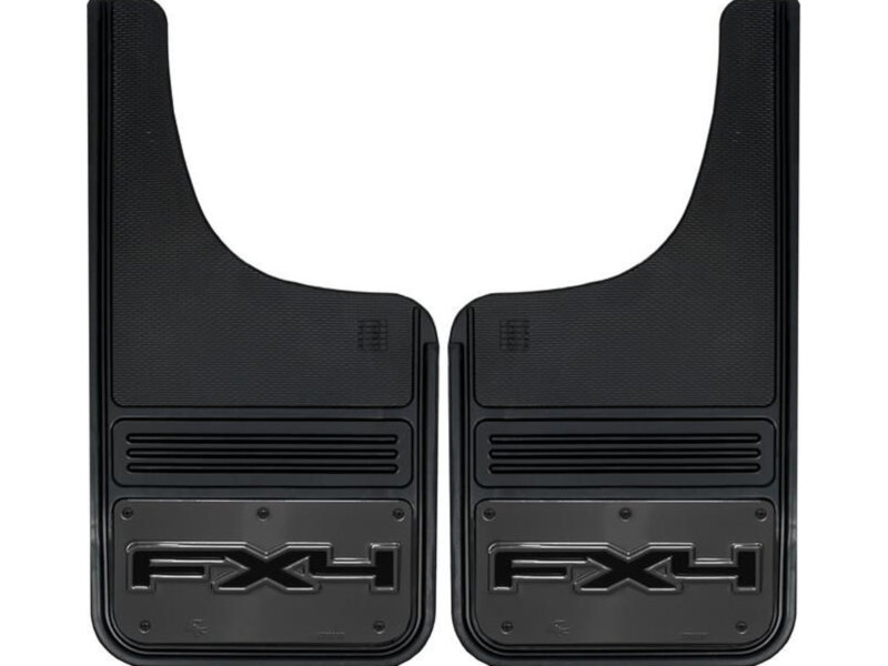 F Series Gatorback X Gun Metal Fx Emblem Front Mud Flaps