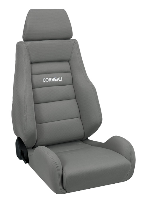 corbeau gts ii racing seat grey cloth