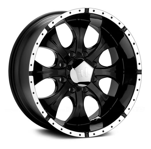 helo  gloss black machined wheel mm offset