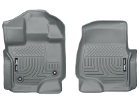 2015-2019 F150 & Raptor Husky WeatherBeater Front Floor Mats (Grey)