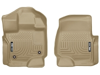 2015-2019 F150 & Raptor Husky WeatherBeater Front Floor Mats (Tan)