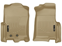 2012-2016 Ford Expedition Husky WeatherBeater Front Floor Mats (Tan)