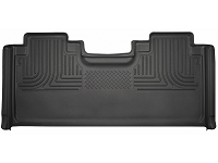 2015-2018 F150 & Raptor SuperCab Husky WeatherBeater Rear Seat Floor Mat (Black)