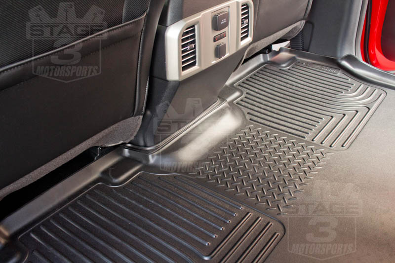 F150 Supercrew Cab >> 2015-2019 F150 SuperCrew Husky WeatherBeater� Rear Seat Floor Mat (Black) 19371