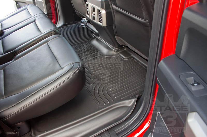 supercrew husky weatherbeateri rear seat floor mat black
