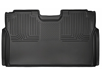 2015-2018 F150 & Raptor SuperCrew Husky WeatherBeater Rear Seat Floor Mat (Black)