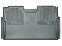 2017-2019 F250 & F350 SuperCrew Husky WeatherBeater Rear Seat Floor Mat (Gray)