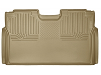 2017-2018 F250 & F350 SuperCrew Husky WeatherBeater Rear Seat Floor Mat (Tan)