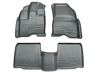 2011-2014 Ford Explorer Husky WeatherBeater Front & Rear Floor Mats (Grey)