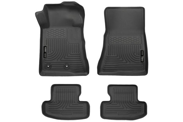 15-20 Mustang Husky Front/Second Row Floor Mats (Black)
