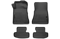 2015-2018 Mustang Husky Front & Second Row Floor Mats (Black)