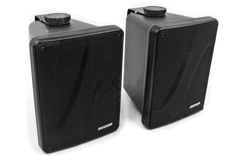 KICKER Full Range Indoor/Outdoor Speakers - Black