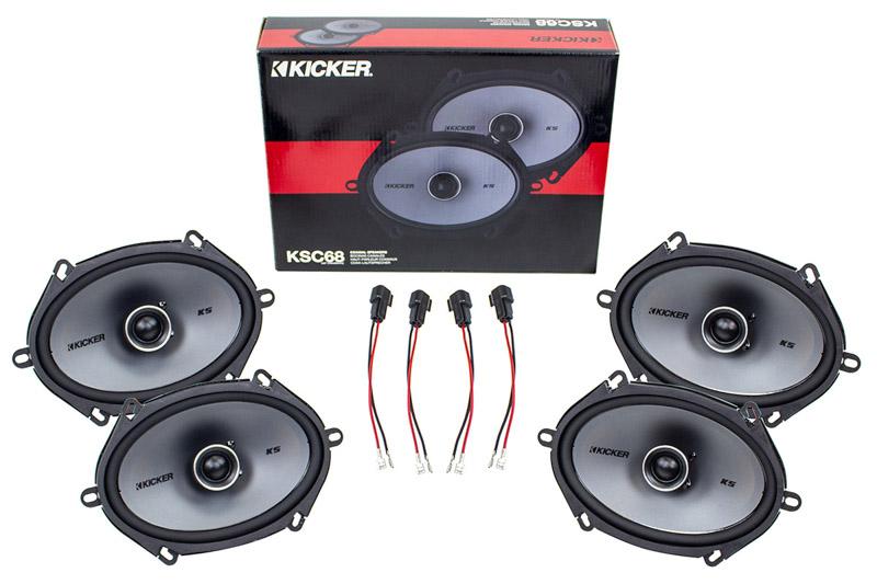 2004-2014 f150 & raptor kicker ksc68 6x8 door speaker upgrade kit -  crewcab