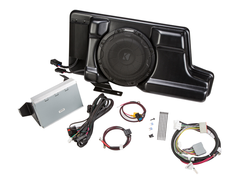 2012-2016 F250 & F350 Kicker VSS PowerStage Powered Subwoofer & Amp Kit (SuperCrew)