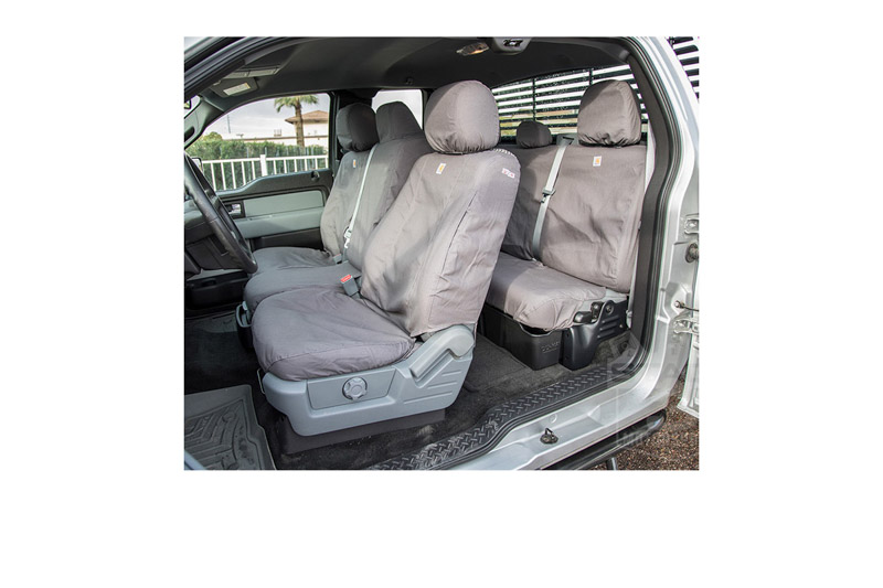 Fantastic 2011 2014 F150 Carhartt Front Row Seat Covers Gravel 40 20 40 Split Bench Seat Adjustable Headrests Fold Down Console Cup Holder Seat Airbag Creativecarmelina Interior Chair Design Creativecarmelinacom