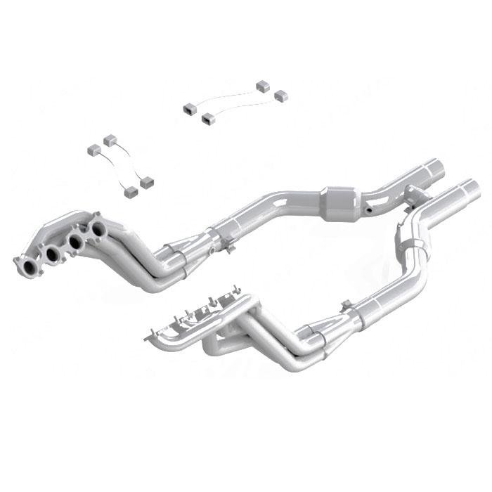 2011-2014 Mustang GT 5.0L MBRP Long Tube Header & Catted H-Pipe Kit