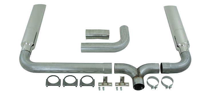 1999-2003 F250 & F350 7.3L MBRP Turbo Back Smoker Exhaust Kit - W/ Stacks - Aluminized