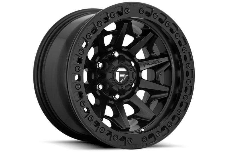 6x1397mm Bolt Pattern Fuel Covert Beadlock D114 17x9 Wheel Matte Black 15mm Offset D11417908445