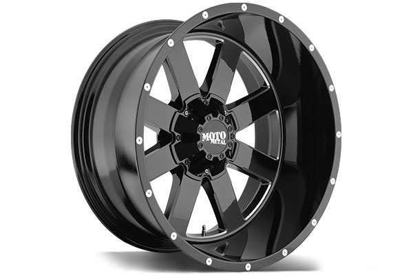 "2016 Mustang Rims >> 2004-2019 F150 Moto Metal MO962 20x9"" Gloss Black Milled Wheel (0mm Offset) MO96229063300"