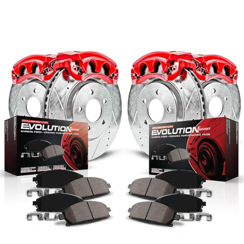 Power Stop Z23 >> 2005-2010 Mustang V6 PowerStop Complete Brake Kit (Calipers, Rotors, & Pads) KC1383