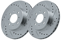 94-04 Mustang GT/V6 StopTech C-Tek Drilled/Slotted Rear Rotor Set
