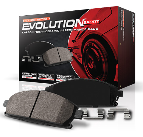 Power Stop Brakes >> 2010 2018 F150 Raptor Power Stop Z23 Evolution Sport Front Brake Pads