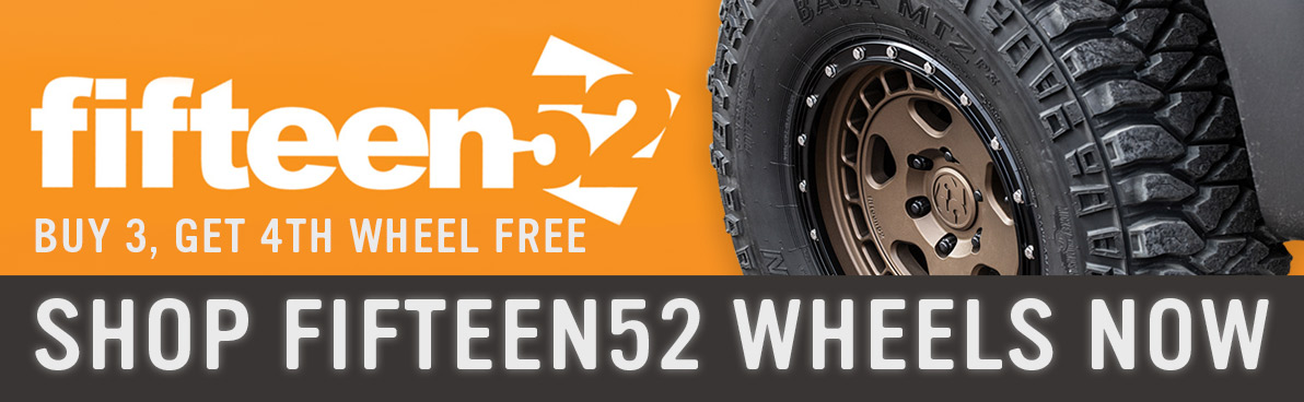 Buy 3 Get Fourth Free fifteen52 Wheels!