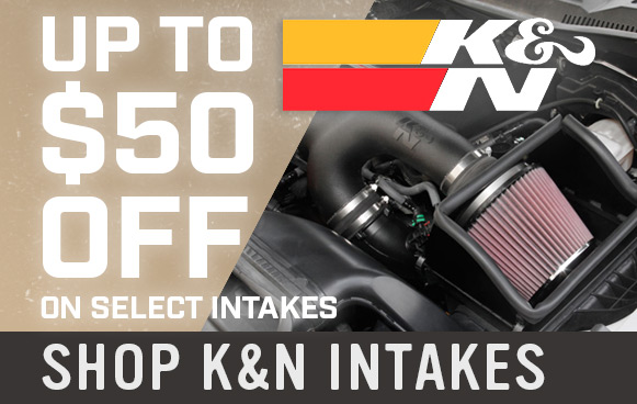 $50 Off Select K&N Parts!