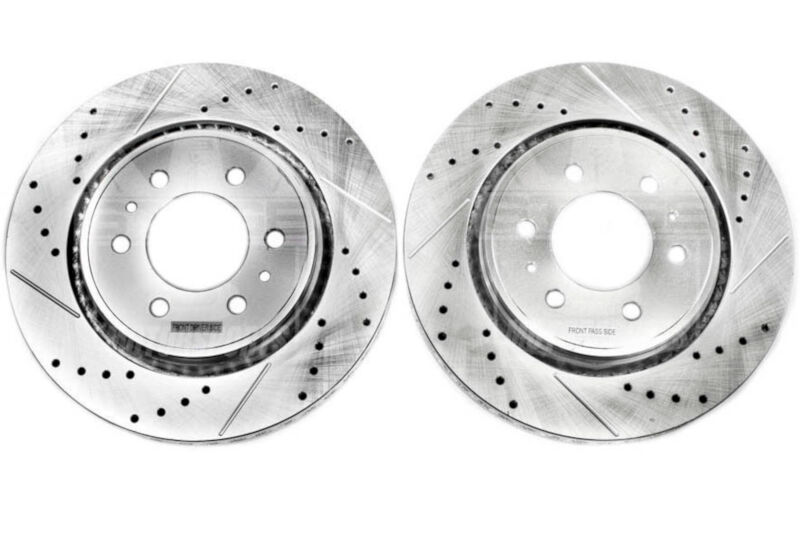 2010-2013 F150 Power Stop Drilled and Slotted Front Rotors