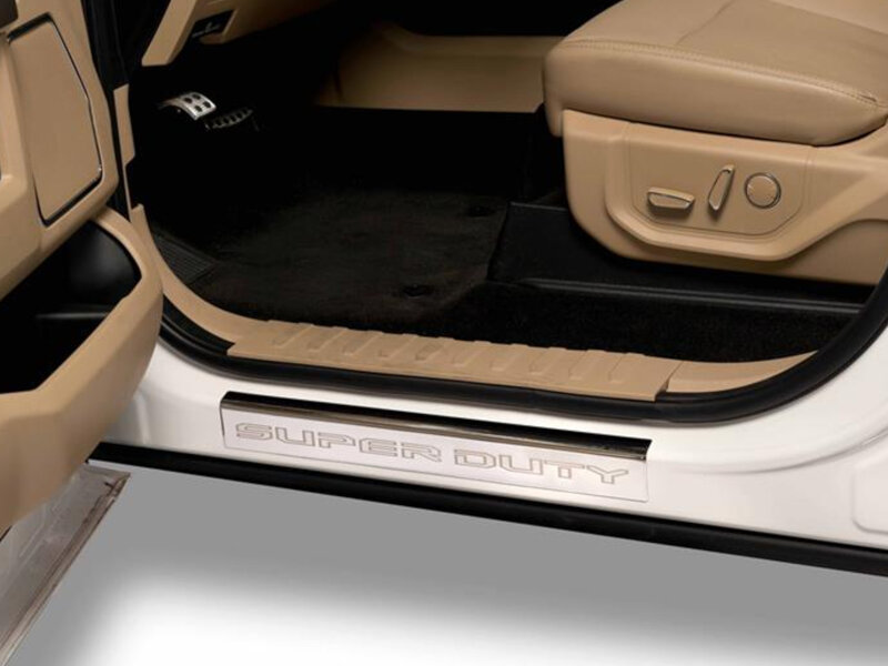 2017 Ford F350 Custom >> 2017-2019 F250 & F350 SuperCab/Regular Cab Putco Stainless Steel Door Covers 95180FD