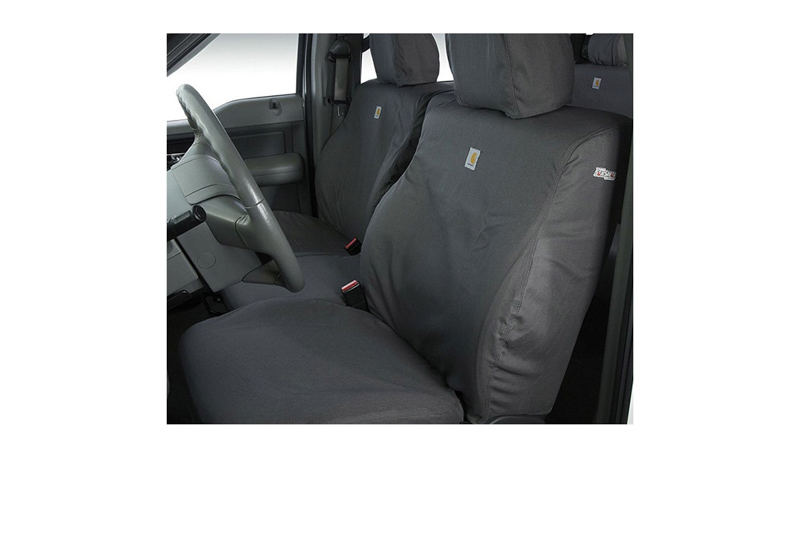 2011-2014 F150 Carhartt Front Row Seat Covers - Gravel (40/20/40 Split Bench Seat, Adjustable Headrests, Fold Down Console, No Cup Holder, Seat Airbag)