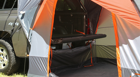 Camper Shell Camping >> F150 / F250 Super Duty Rightline Gear Tent (For SUV or Camper Shell) 110907