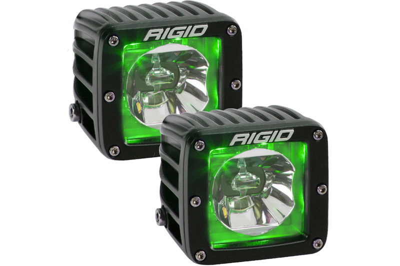 Rigid Industries Radiance Pod Series with Green Back-light Pair