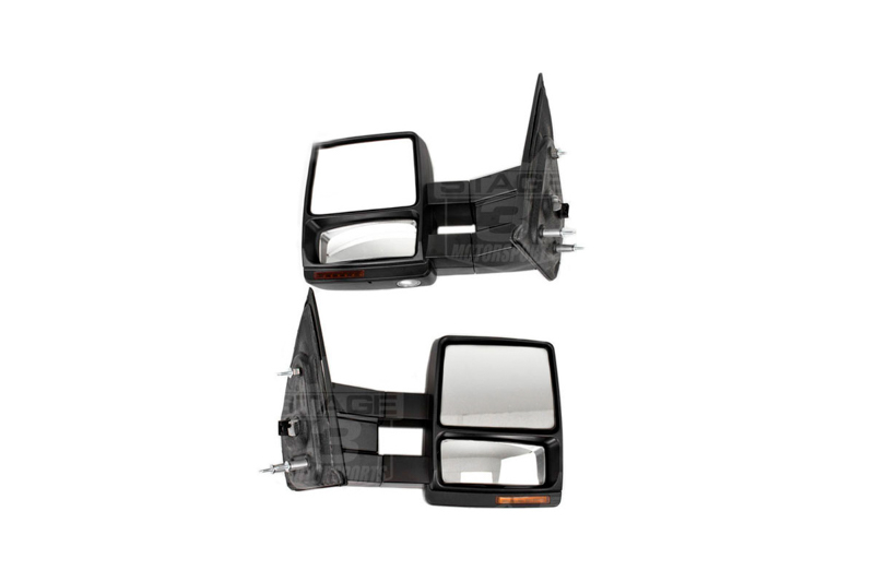 2007-2014 F150 Tow Mirrors with Puddle Lights (Black Textured)