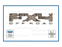 Officially Licensed 2009-2011 F150 FX4 Off-Road RealTree AP Decals (Pair)