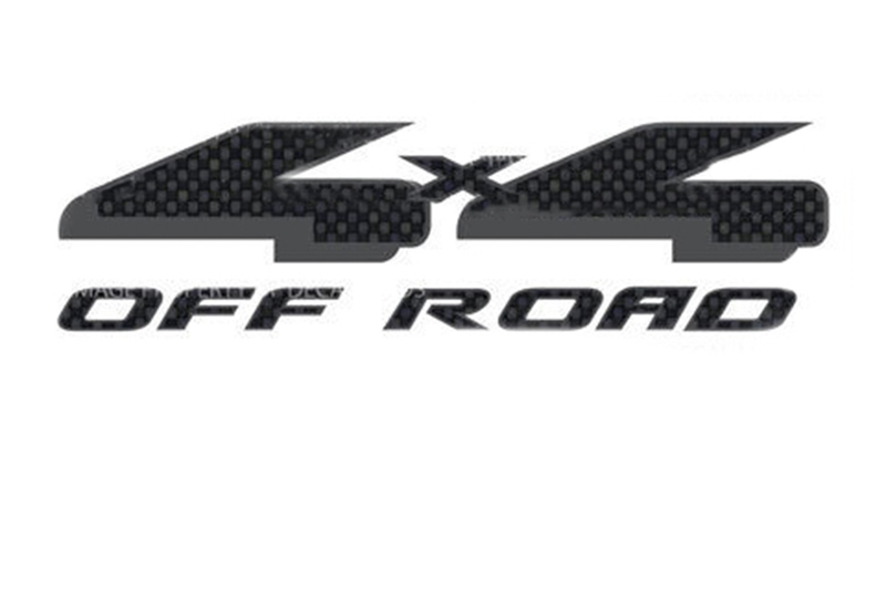 97-08 F150 4X4 Off-Road Carbon Fiber Bedside Decals