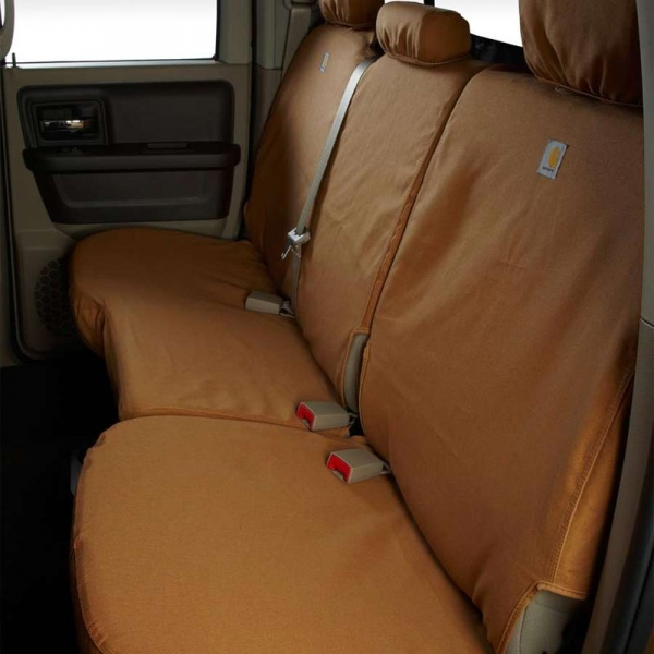Astonishing 2017 2019 F250 F350 Supercab Carhartt Second Row Seat Covers Brown 60 40 Split Bench Seat Three Adjustable Headrests Center Shoulder Belt Caraccident5 Cool Chair Designs And Ideas Caraccident5Info