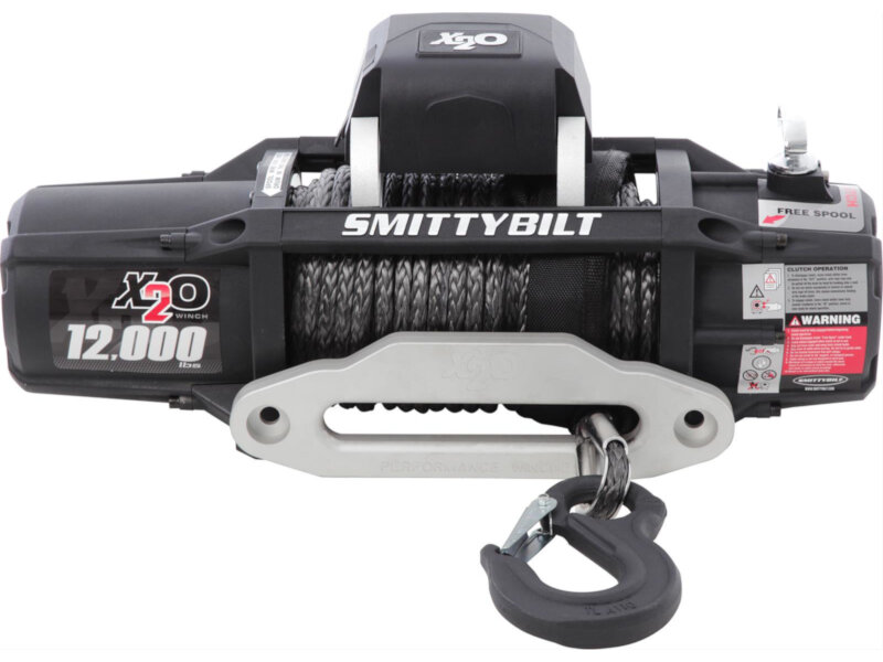 Smittybilt 10,000lb XRC Synthetic Winch Rope With Free Universal Aluminum Fairlead