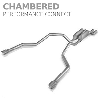 2009-2010 F150 5.4L Stainless Works Chambered Performance Connect Dual Rear Exit Cat-Back Kit
