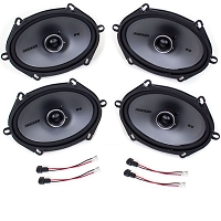2004-2014 F150 & Raptor Kicker KSC68 6x8 Door Speaker Upgrade Kit - CrewCab & SuperCab