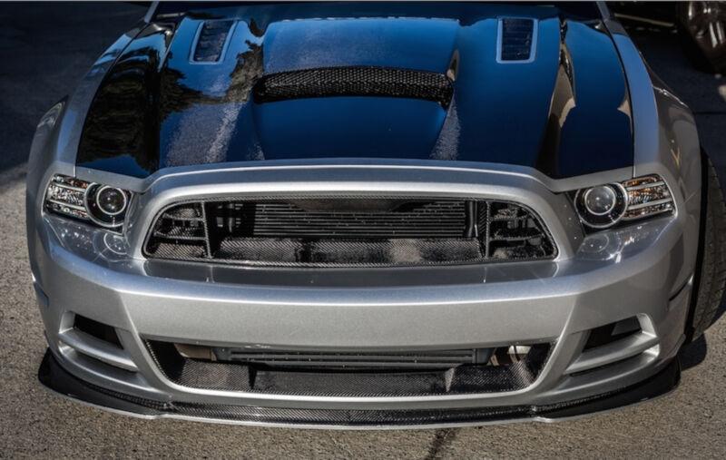 2013 2014 Mustang Gt V6 Trucarbon Front Upper Bumper Grille Tc10025