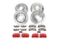 2005-2010 F350 4WD Dually Power Stop Z36 Truck & Tow Front & Rear Brake Kit w/ Powder-Coated Calipers