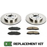 1997-2003 F150 4WD Power Stop Complete Z16 OE Front Replacement Brake Kit
