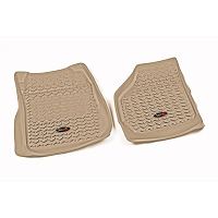 2008-2010 F250 Super Duty Rugged Ridge Front Floor Mats (Tan)