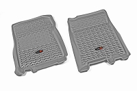 2011-2014 F150 & Raptor Rugged Ridge Front Floor Mats (Gray)