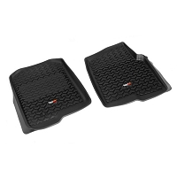 2004-2008 F150 Rugged Ridge Front Floor Mats (Black)