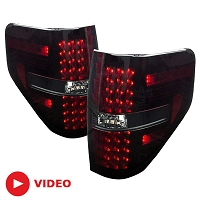 2009-2014 F150 & Raptor Recon LED Tail Lights (Red Smoked)